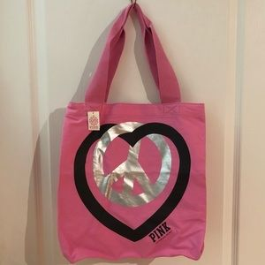 🛍2/$35 PINK by Victoria's Secret Peace Sign Tote